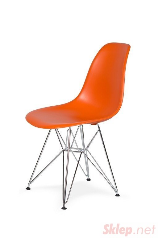 Krzesło DSR SILVER sycylijska pomarańcz .08 - podstawa metalowa chromowana
