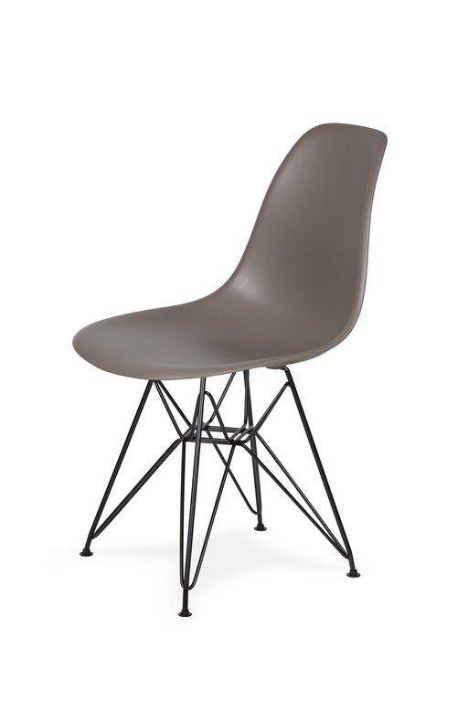 Krzesło DSR BLACK popielaty szary.17 - podstawa metalowa czarna