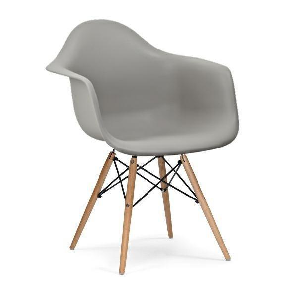 Fotel DAW szary.30 - polipropylen, podstawa bukowa