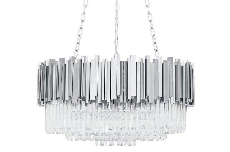 Lampa wisząca IMPERIAL SILVER 80 - stal, kryształ