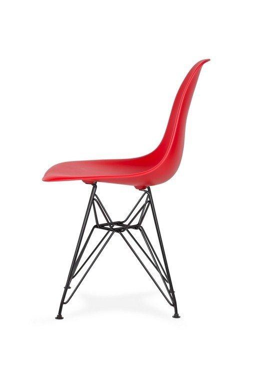 Krzesło DSR BLACK krwista czerwień.06 - podstawa metalowa czarna