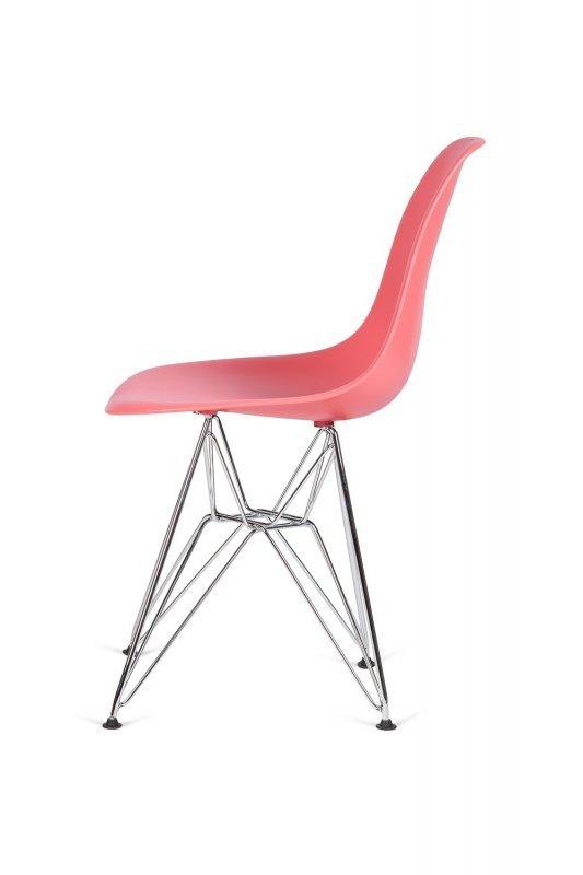 Krzesło DSR SILVER ciemna brzoskwinia .33 - podstawa metalowa chromowana