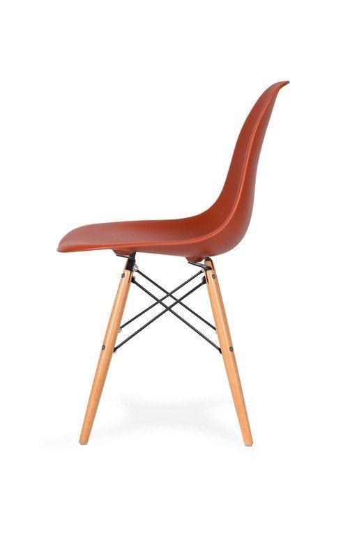 Krzesło DSW WOOD ceglaste.28 - podstawa drewniana bukowa