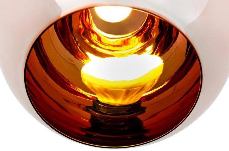 Lampa wisząca BOLLA 20 miedziana - szkło metalizowane