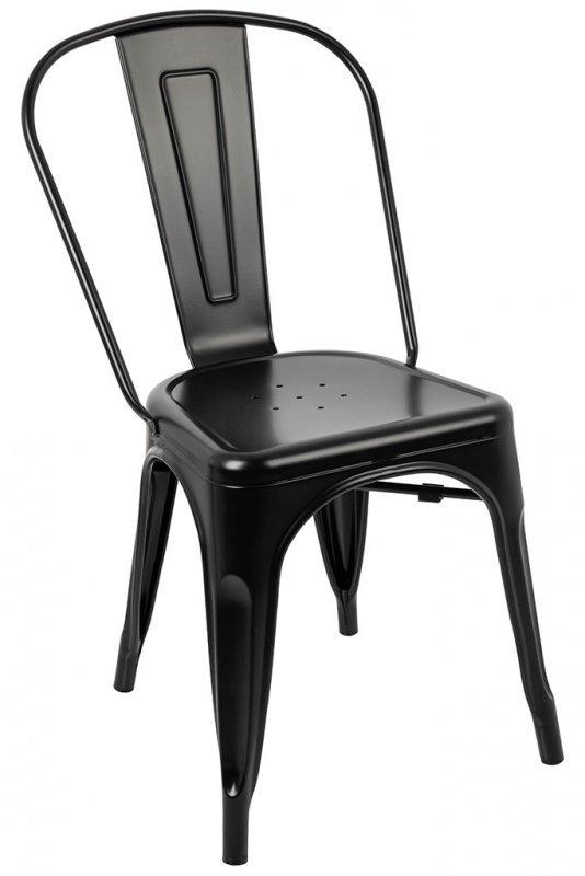 Krzesło TOWER (Paris) czarne - metal