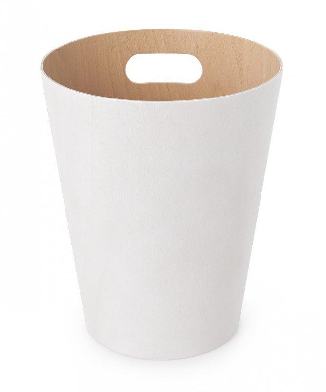 UMBRA kosz na śmieci WOODROW  - biały
