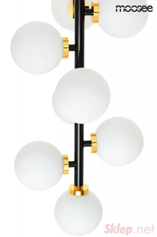 MOOSEE lampa wisząca COSMO VERTICAL M - czarna, złota