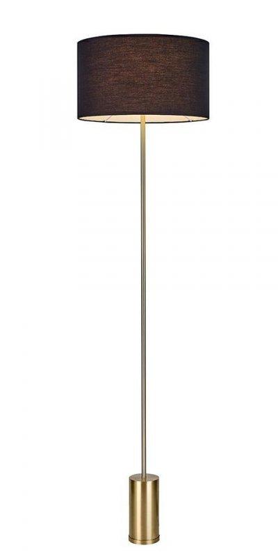 MOOSEE lampa podłogowa SANTORINI - złota podstawa, czarny klosz