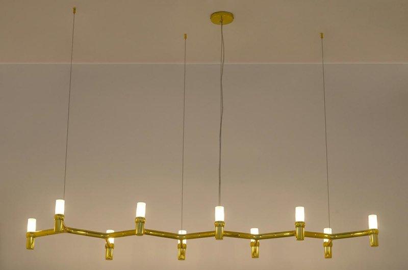 Lampa wisząca ATOMIC LONG złota