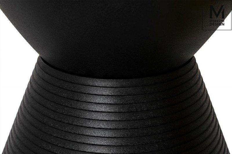 MODESTO stołek TAMBURO czarny - polipropylen