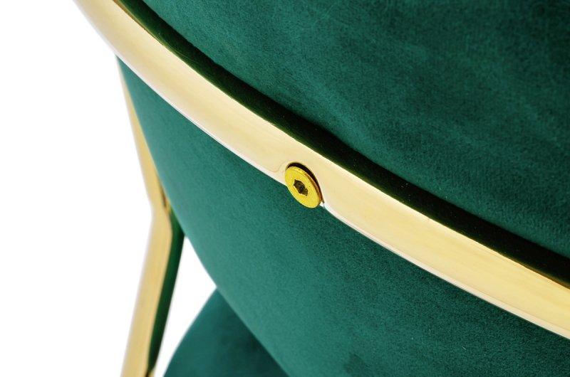 Hoker MARGO 65 ciemny zielony - welur, podstawa złota