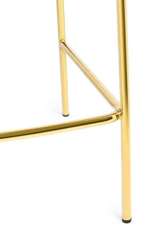 Hoker MARGO 65 ciemny szary - welur, podstawa złota