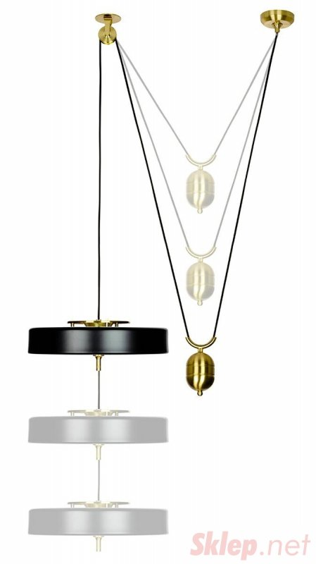 Lampa wisząca ARTE MOVE biała - aluminium, metal