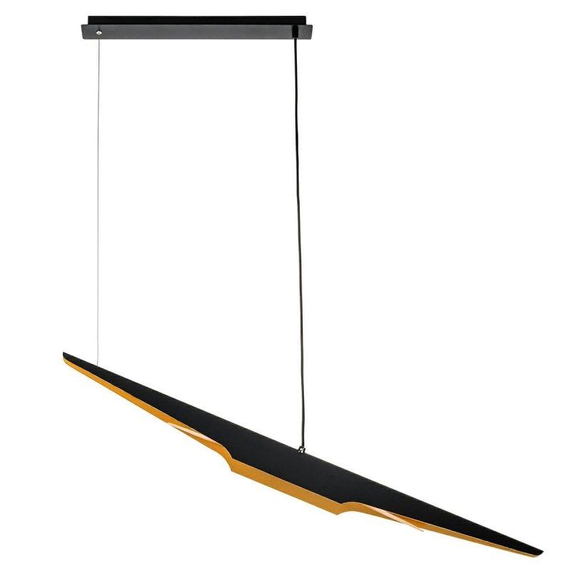 Lampa wisząca FENIX czarno - złota - aluminium