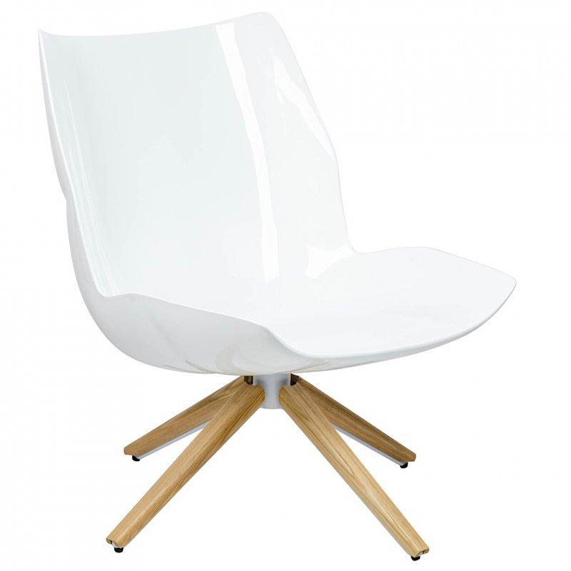 Fotel STAR szary - szara tkanina,  podstawa drewniana
