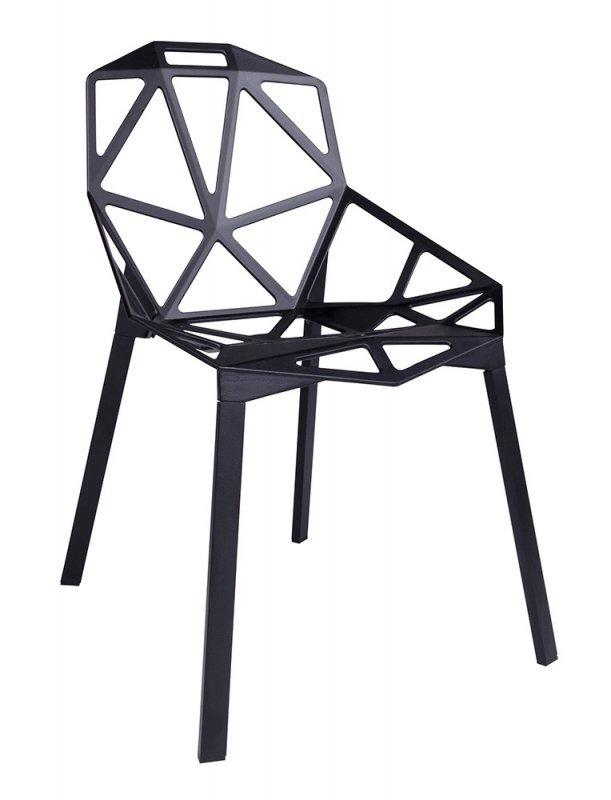 Krzesło SPLIT PREMIUM czarne - aluminium, nogi czarne