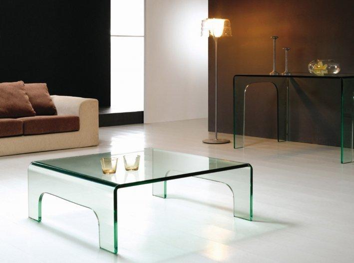 Stolik szklany PONTI transparentny - szkło