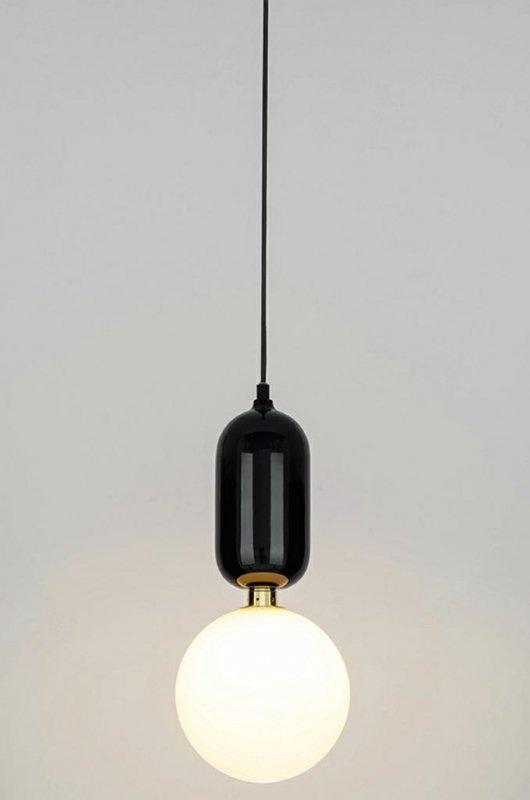 Lampa wisząca BOY S Fi 18 czarna - LED, szkło, metal