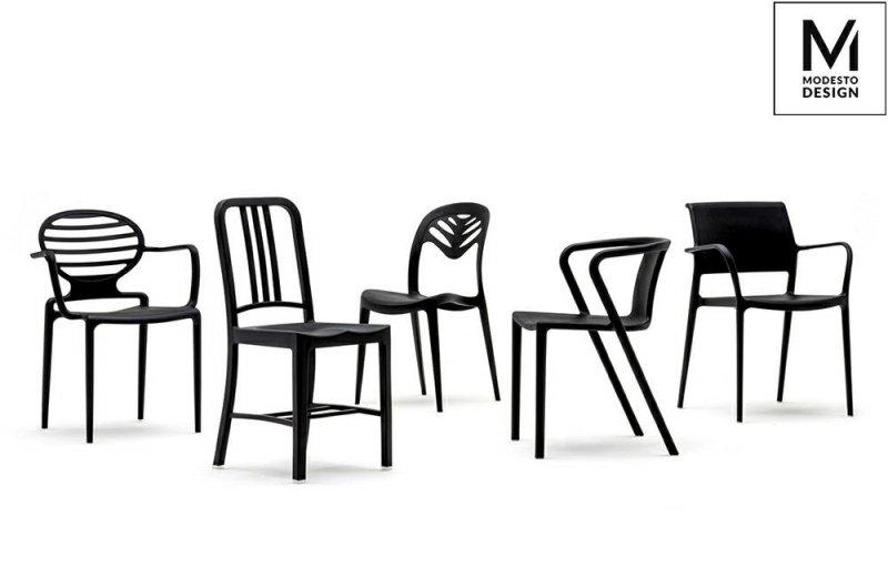 MODESTO krzesło VEGA czarne - polipropylen
