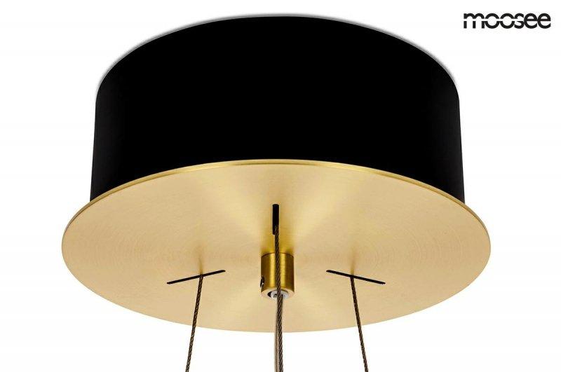 MOOSEE lampa wisząca SATURNUS 47 DUO złota - LED, kryształ, stal szczotkowana