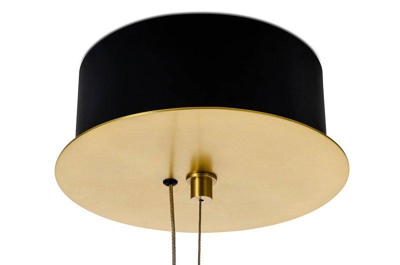 Lampa wisząca FUENTE mosiądz - metal, szkło