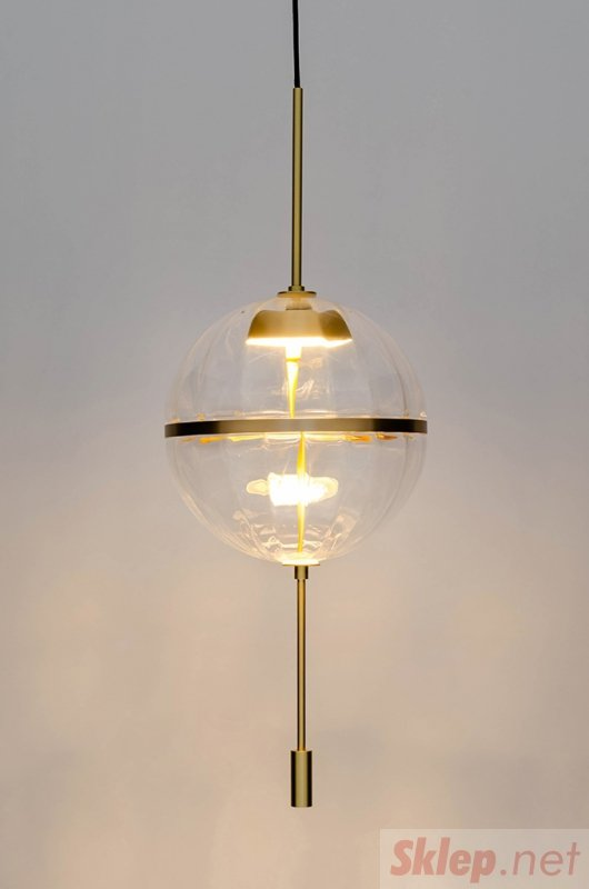 Lampa wisząca CHAPLIN 300 mosiądz  - LED, szkło