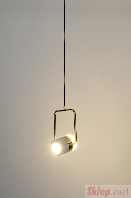 Lampa wisząca BLINK 1 biała - LED, metal