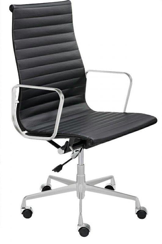 Fotel biurowy AERON PRESTIGE PLUS chrom - skóra naturalna, aluminium
