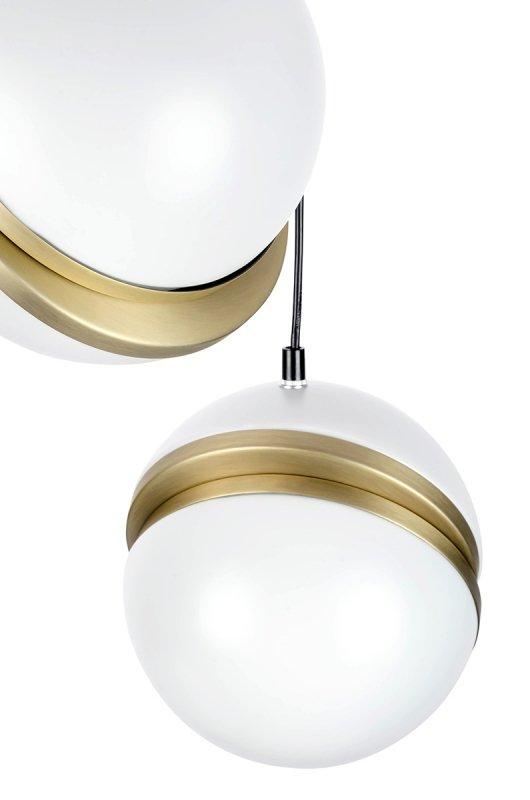 Lampa wisząca GLOBE 3 złota - LED, akryl, metal