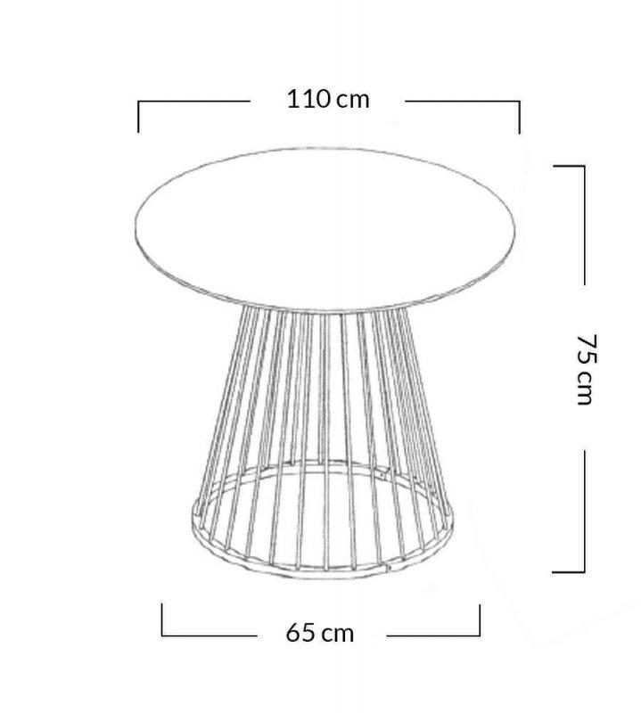 Stół GLAM WALNUT 110 - fornir orzechowy, chromowana podstawa