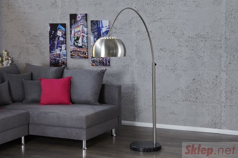INVICTA lampa podłogowa BIG BOW II chromowana - 170-210 cm