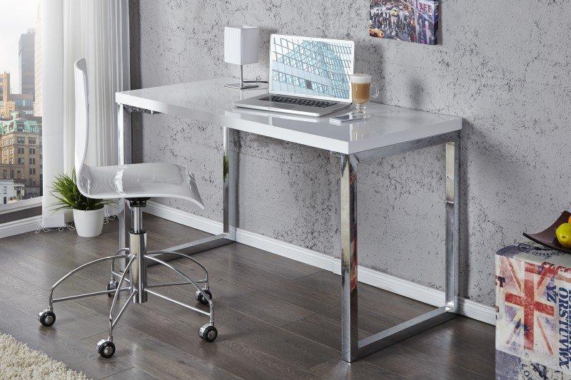 INVICTA biurko VERK 120x60 białe - stal