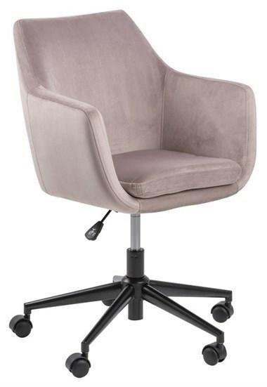 ACTONA fotel biurowy NORA  - brudny róż