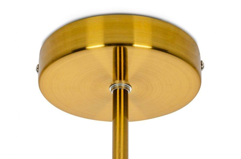 Lampa wisząca ASTRA 2 antyczny mosiądz - metal, szkło