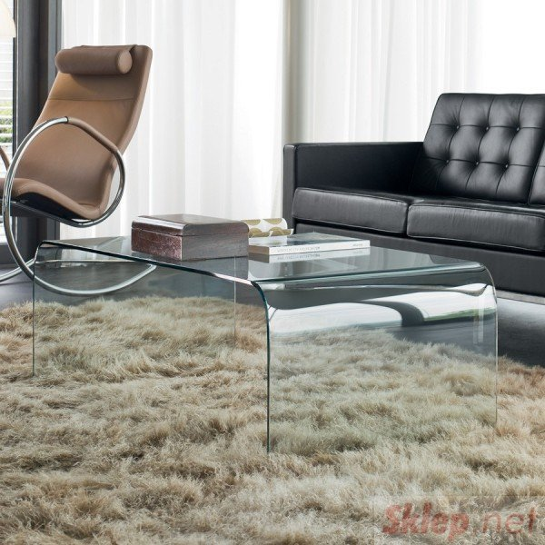 Stolik szklany FORMANOVA CLEAR - szkło transparentne