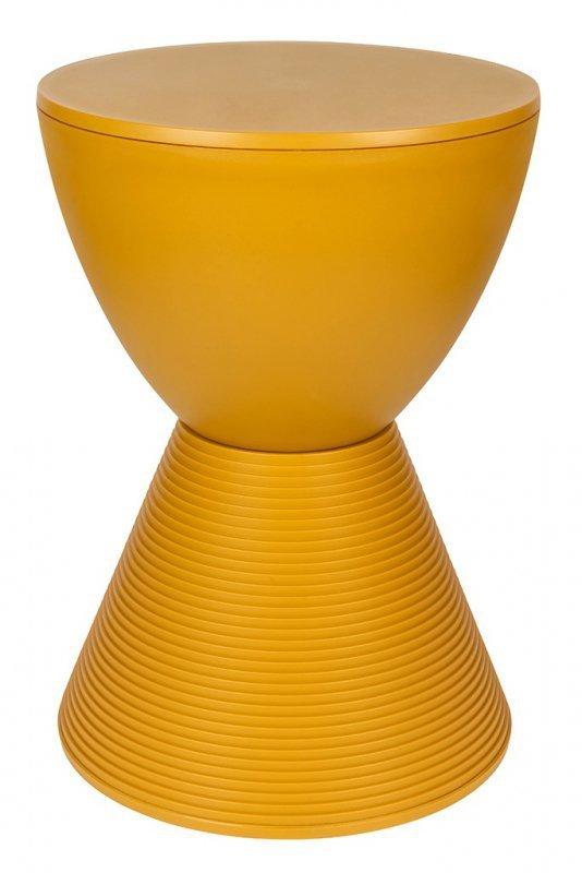 Stołek TAMBURO pastelowy imbir  - polipropylen