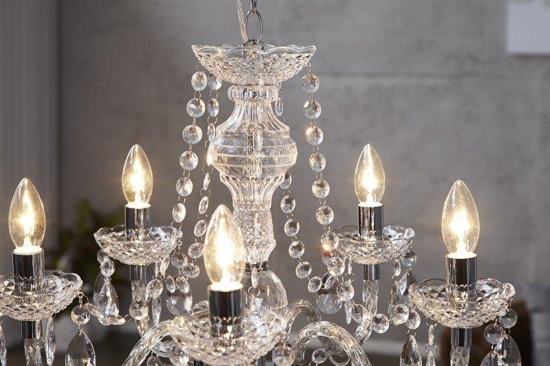 INVICTA lampa wisząca DIAMONDS 5  - transparentna