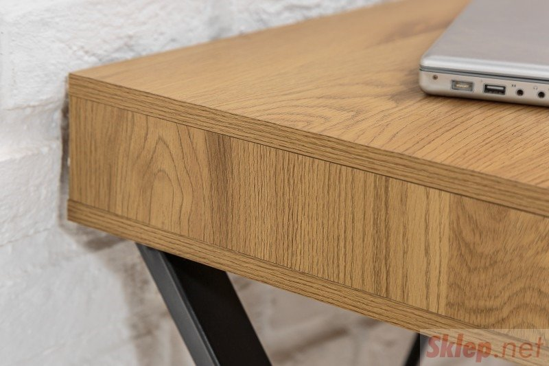 INVICTA biurko STUDIO 110 cm dąb - MDF, metal