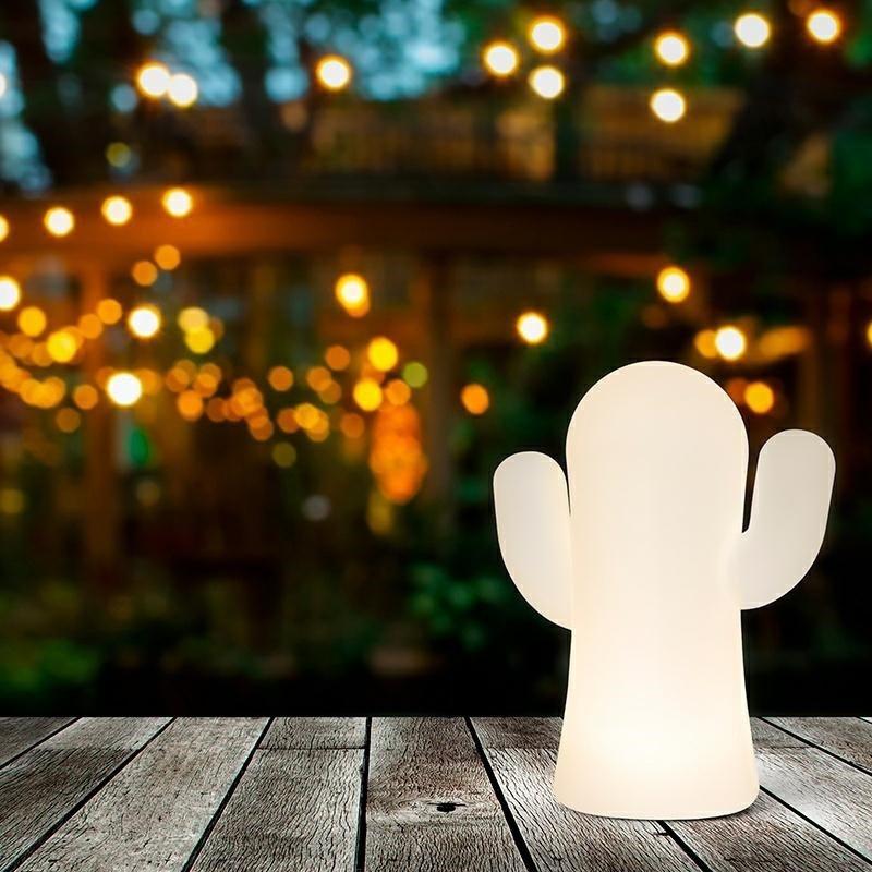 NEW GARDEN lampa ogrodowa PANCHITO BLANCO INDOOR & OUTDOOR biała - LED, wbudowana bateria