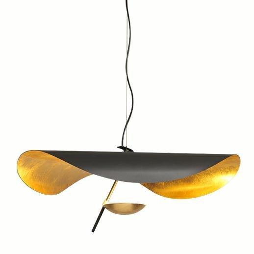 Lampa wisząca STING RAY 80 czarno-złota - metal