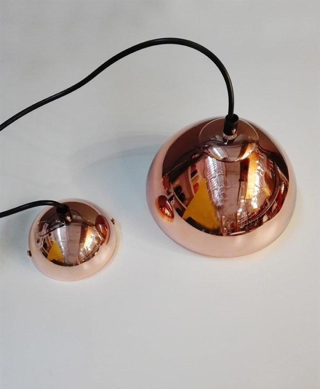 Lampa wisząca BELLA 18 miedziana - szkło, metal