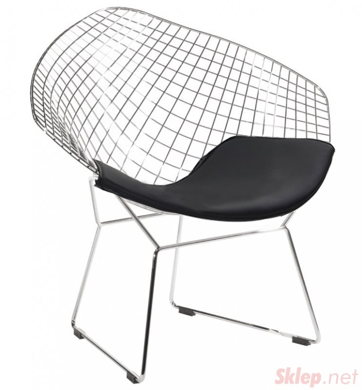 Fotel VOLIER SOFT chrom - czarna poduszka