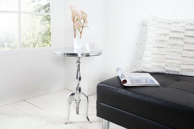INVICTA stolik JARDIN 75cm srebrny - aluminium