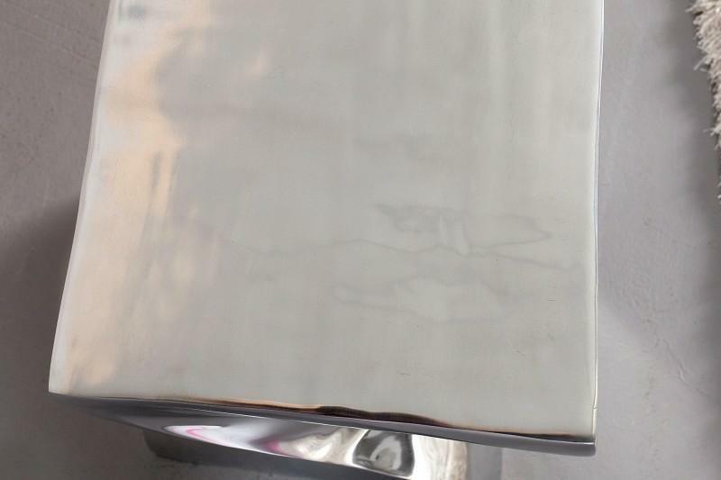 INVICTA stolik TWIST 45cm chrom - polerowane aluminium