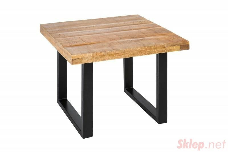 INVICTA stolik kawowy IRON CRAFT 60 - lite drewno mango, podstawa czarna