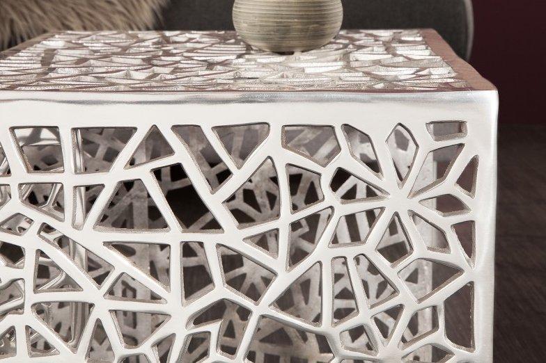 INVICTA zestaw stolików ABSTRACT srebrny - aluminium