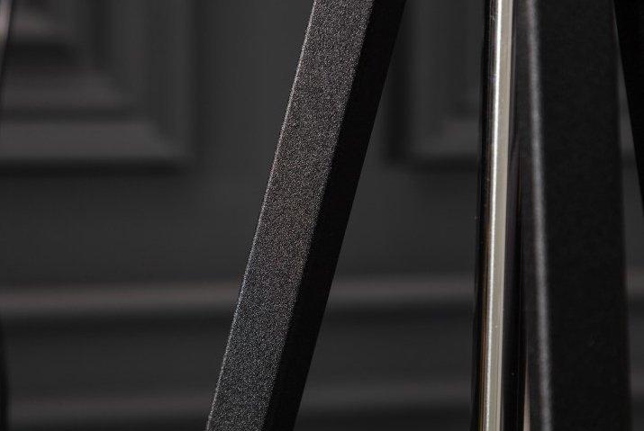 INVICTA lampa podłogowa STUDIO czarno-złota - tkanina, podstawa metalowa