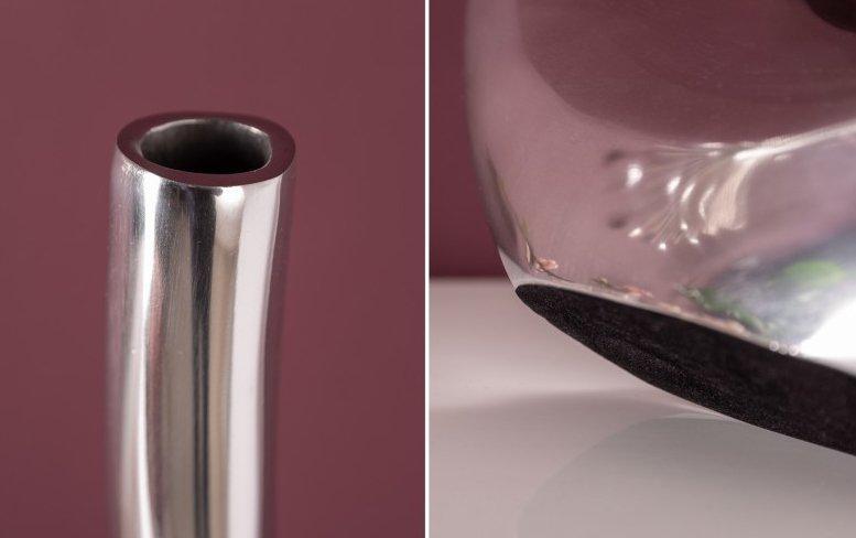 INVICTA wazon WAVE 105 srebrny - aluminium