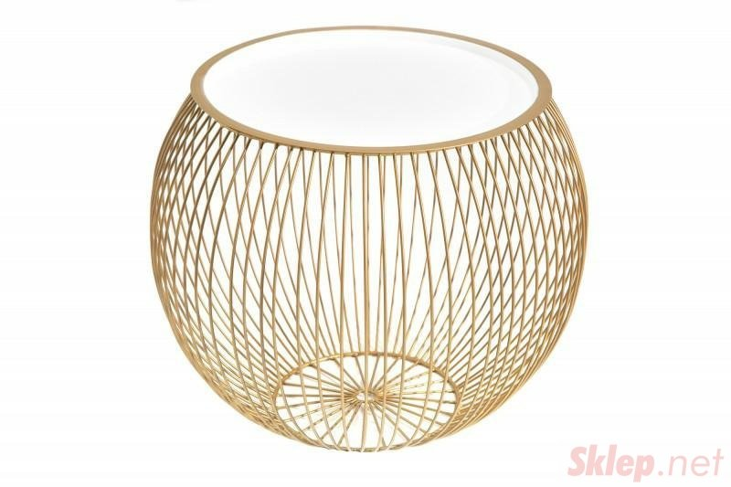 INVICTA stolik kawowy STORAGE II 51 cm złoty - metal, aluminium