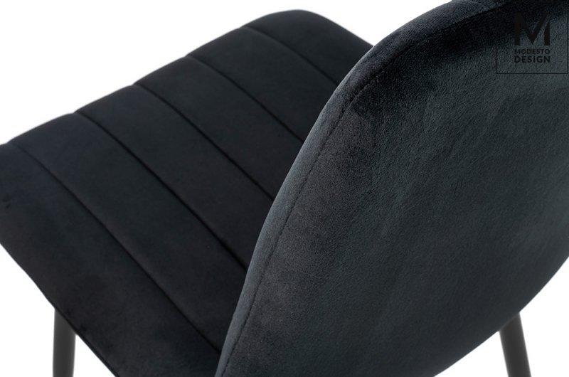 MODESTO krzesło LARA czarne - welur, metal